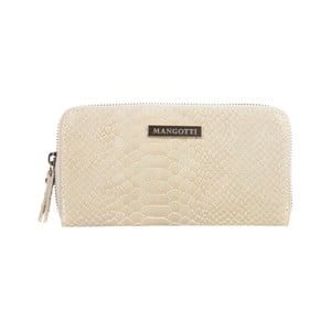 Béžová kožená listová kabelka Mangotti Bags Zuna