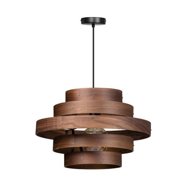 Drevené závesné svietidlo ETH Walnut Oval
