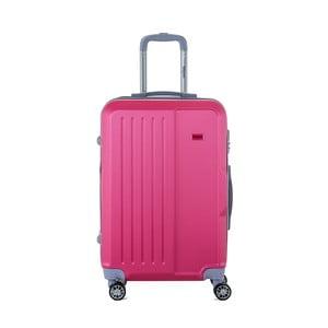 Ružový cestovný kufor na kolieskách s kódovým zámkom SINEQUANONE Chandler, 71 l