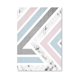 Plagát Geometric Pink Blue