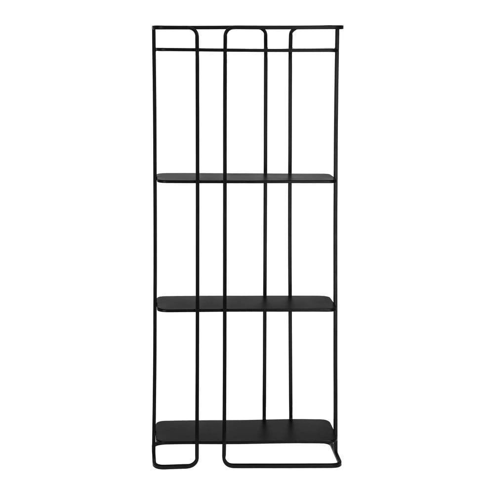 Čierny policový regál La Forma Calen 72 x 167 cm
