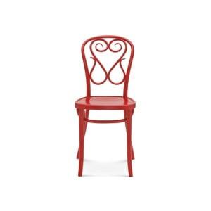 Červená drevená stolička Fameg Jesper