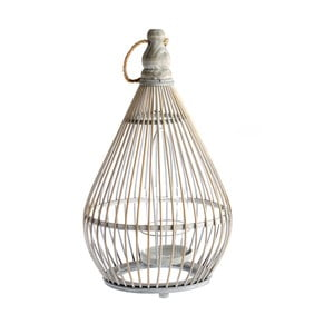 Bambusový lampáš Dakls Bamboo, výška 28,5 cm