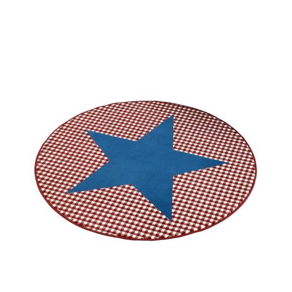 Koberec City & Mix - modrá hviezda, 140 cm