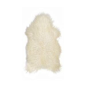 Biela ovčia kožušina s dlhým vlasom Arctic Fur Ptelja, 100 × 55 cm