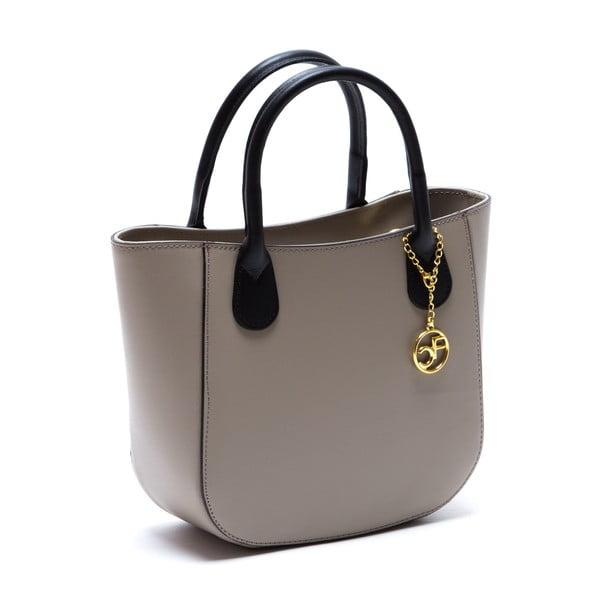 Sivo-hnedá kožená kabelka Isabella Rhea no. 3031