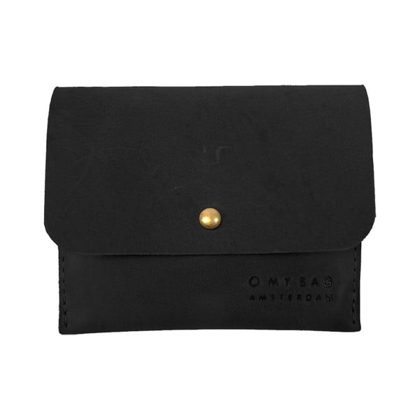 Kožené puzdro na vizitky O My Bag, čierne