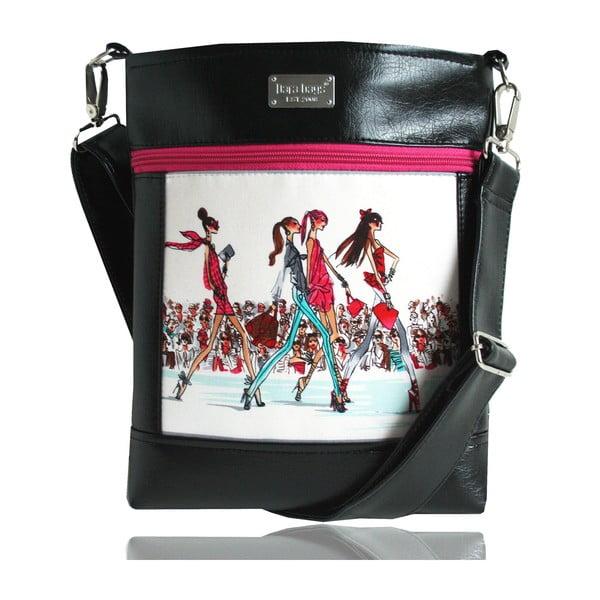 Kabelka cez rameno Dara bags Puzzle Ruby no. 50 I love Paris