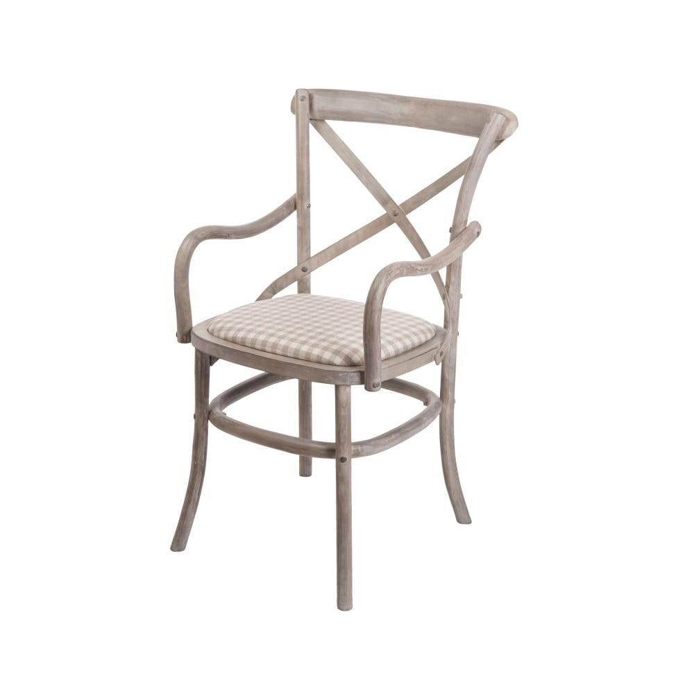 Béžová stolička s opierkami z brezového dreva Livin Hill Venezia