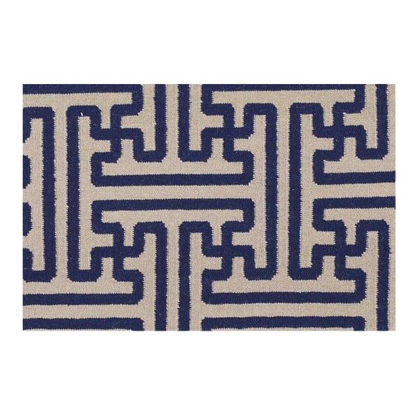 Ručne tkaný koberec Kilim JP 11188 Blue, 110x170 cm