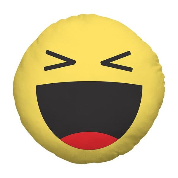 Vankúš Emoji Laugh, 39 cm