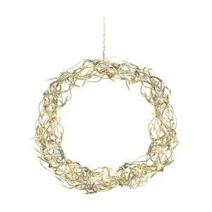 Závesný svietiaci LED veniec Best Season Curly Wreath