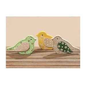 Sada 3 dekoratívnych vtáčikov Meja