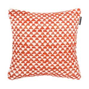 Oranžový vzorovaný vankúš ZicZac Pyramide, 45x45cm