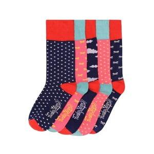 Sada 5 párov farebných ponožiek Funky Steps Strawberries, veľ. 35-39