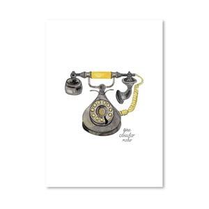 Autorský plagát Rotary Phone, 30x42 m