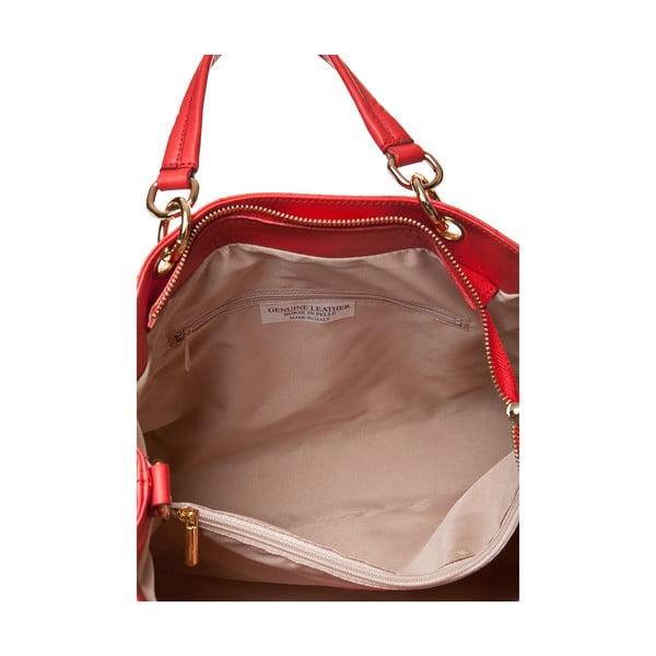 Kožená kabelka Ema, červená