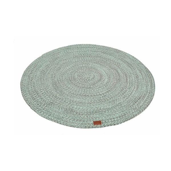Mätovozelený okrúhly koberec Hawke&Thorn Parker