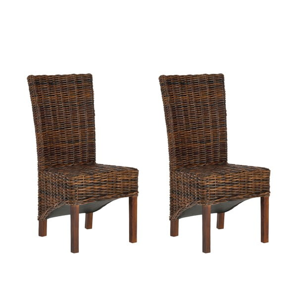 Sada 2 ratanových stoličiek Safavieh Alexander