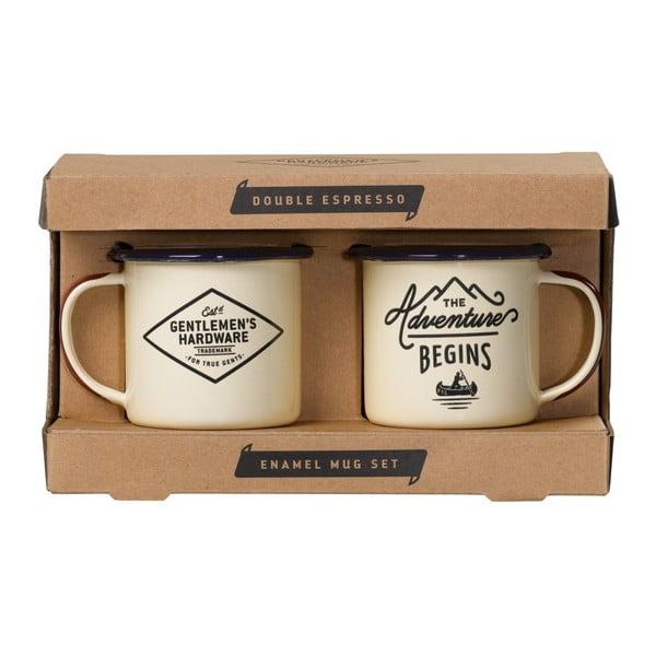 Sada 2 smaltovaných hrnčekov na espresso Gentlemen's Hardware, 150 ml
