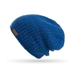 Modrá ručne pletená čiapka DOKE Mina