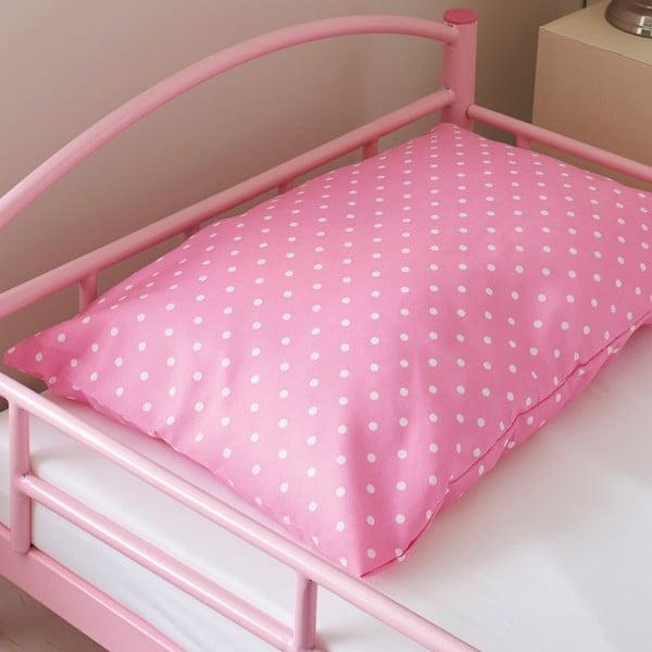 Detská posteľ s matracom a obliečkami Bundle, ružová