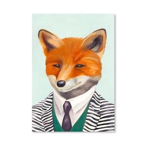 Plagát Fox, 30x42 cm