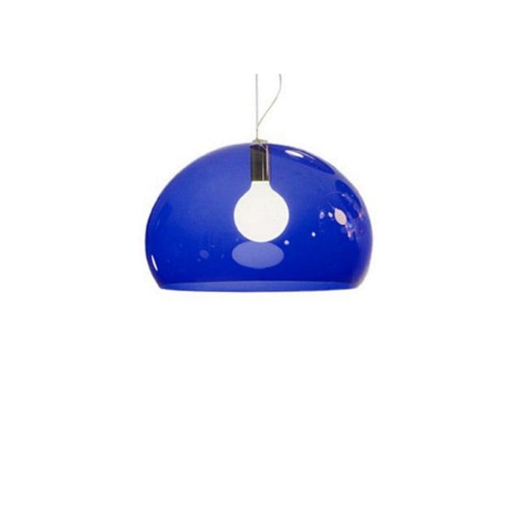 Modré stropné svietidlo Kartell Fly, ⌀ 52 cm
