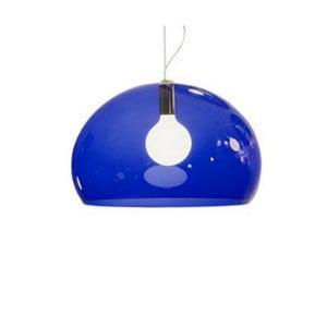 Modré stropné svietidlo Kartell Fly, ⌀52cm