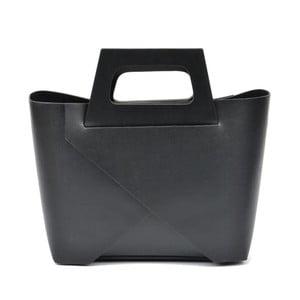 Čierna kožená kabelka Carla Ferreri Mismo Hunno