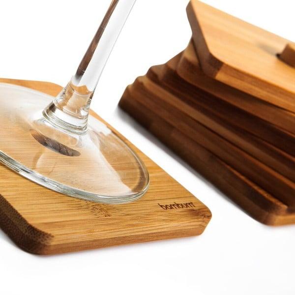 Sada 6 bambusových podložiek pod pohár Tilla