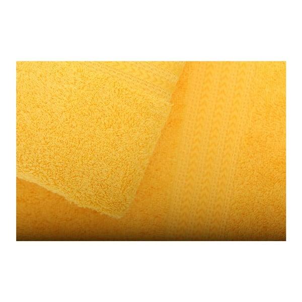 Sada 3 žltých uterákov Rainbow