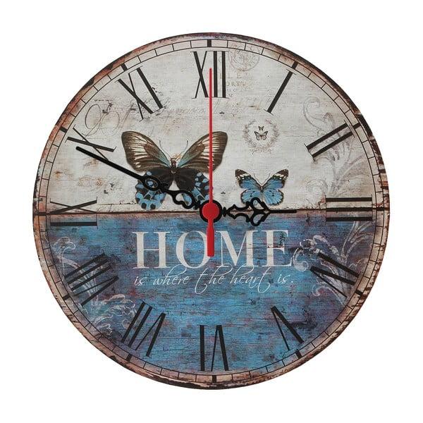 Nástenné hodiny Home Is, 30 cm
