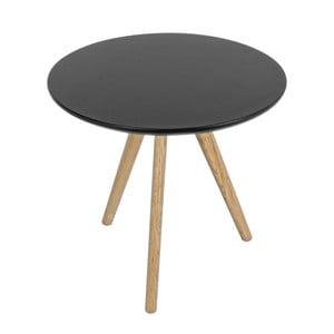 Stolík Luxembourg Black, 50x50 cm