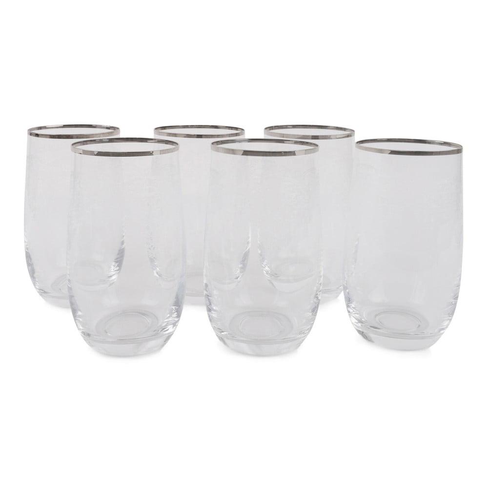 Sada 6 sklenených pohárov Fotis