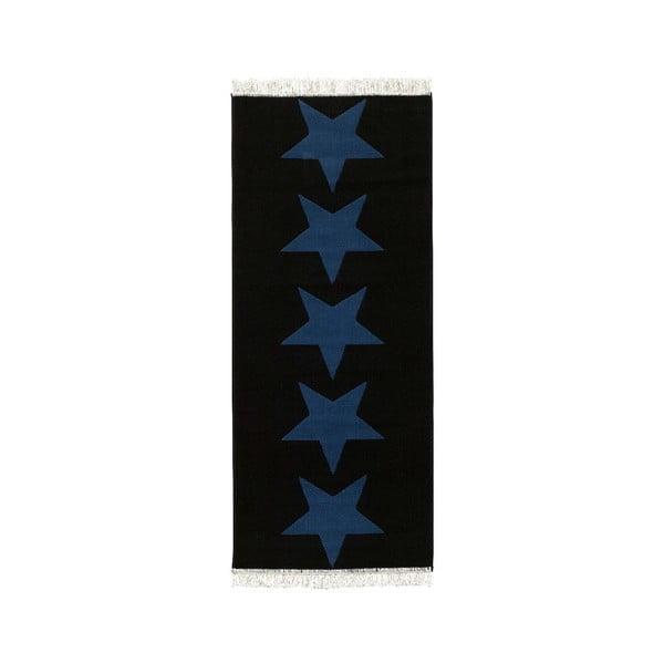 Koberec Fringe - tmavmodré hviezdy, 80x200 cm
