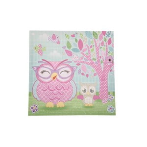 Obraz na plátne Pink Owl, 36x36 cm