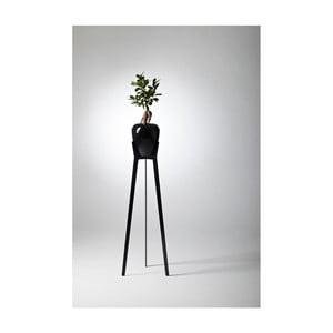 Čierny samozavlažovací kvetináč Plastia Calimera A1, ø 17 cm