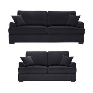 Dvojdielna sedacia súprava Jalouse Maison Irina, černá