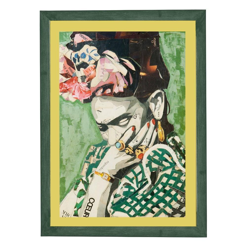 Nástenný obraz v ráme Surdic Green Frida, 30 x 40 cm