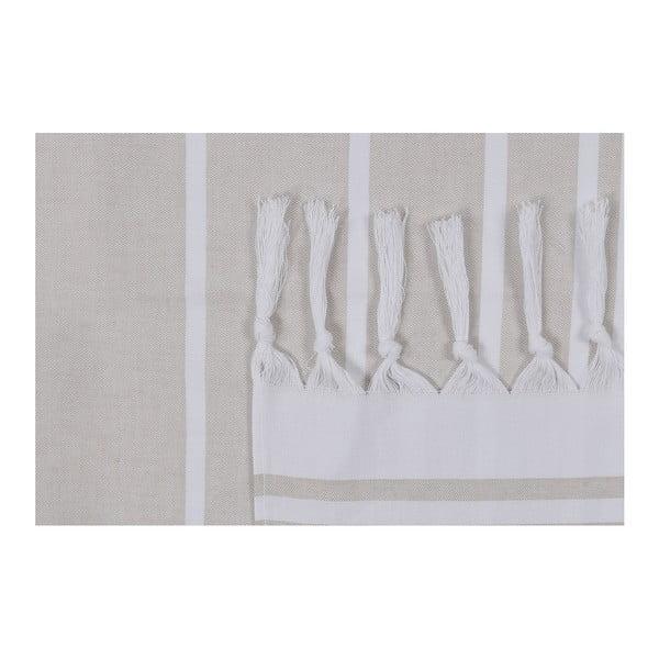Krémová plážová osuška Fouta, 170 x 100 cm