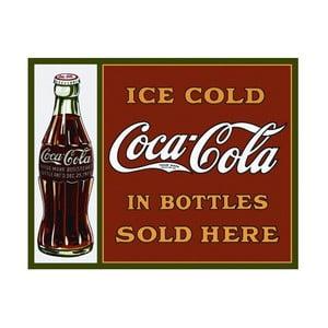 Plechová ceduľa Coca Cola Here, 30x40 cm