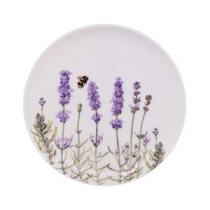 Dezertný tanier z kostného porcelánu Ashdene I Love Lavender, ⌀15cm