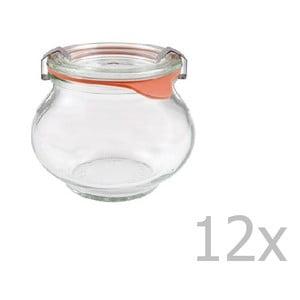 Sada 12 dekoratívnych zaváracích pohárov Weck Schmuck, 220 ml