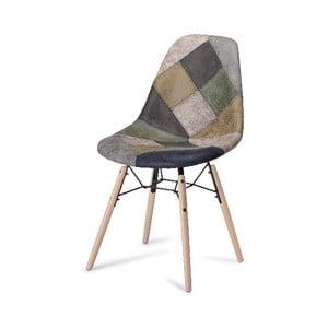 Sivá jedálenská stolička s nohami z bukového dreva Furnhouse Sun Patch
