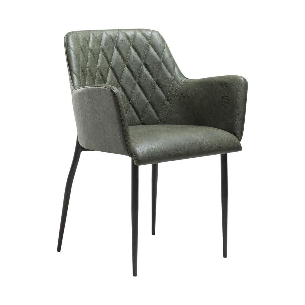 Zelená jedálenská stolička s opierkami na ruky DAN-FORM Denmark Rombo
