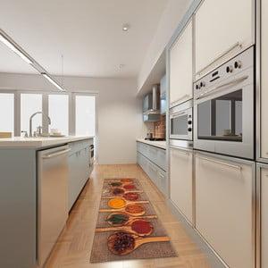 Vysokoodolný kuchynský koberec Spices, 60x300 cm