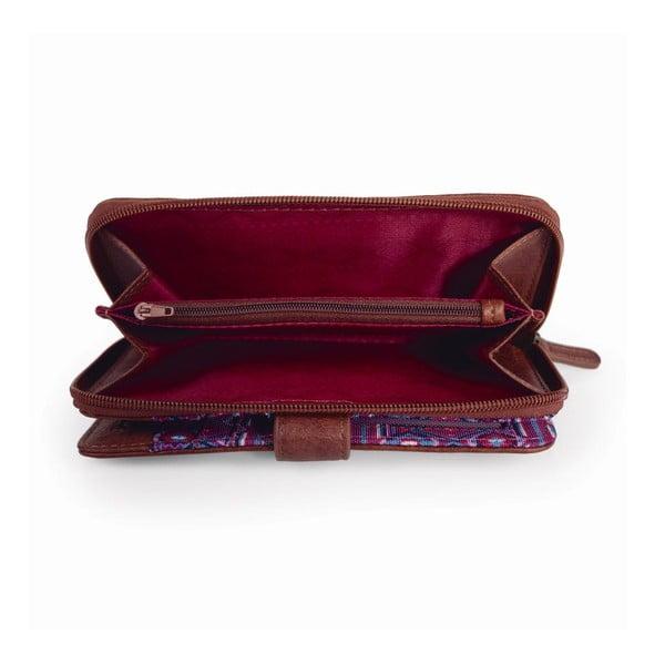 Ružovo-modrá peňaženka SKPA-T, 18 x 9 cm
