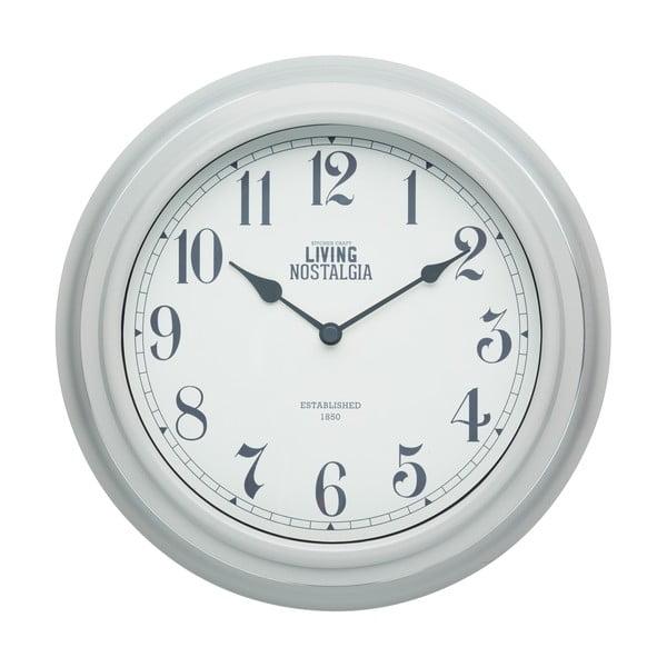 Nástenné hodiny Kitchen Craft Living Nostalgia Grey, 25,5 cm