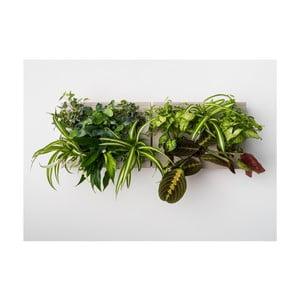 Vertikálny kvetináč s neviditeľným stojanom HOH! Duo Smart Grigio, 78x27 cm